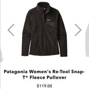 Black Patagonia Re-tool Snap T Pullover